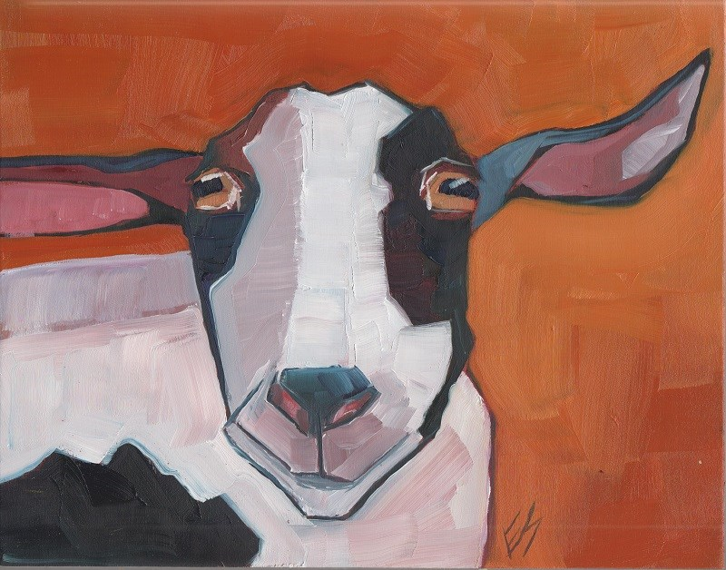 """Goat"" original fine art by Elizabeth See"