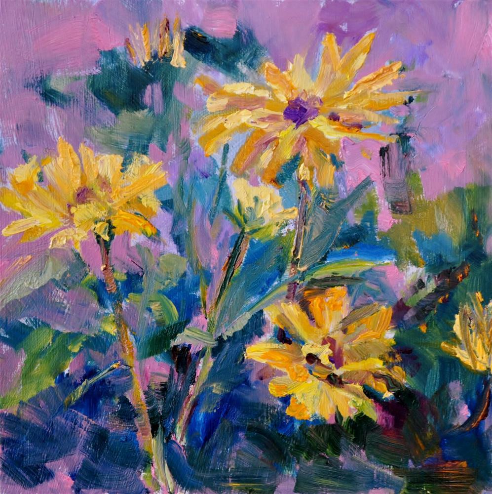 """Yellow Daisies"" original fine art by Catherine Crookston"