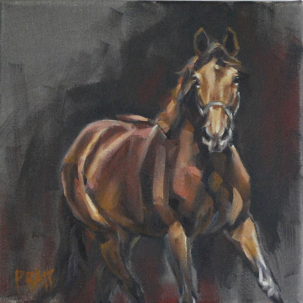 """Trot Study"" original fine art by Jennifer Pratt"