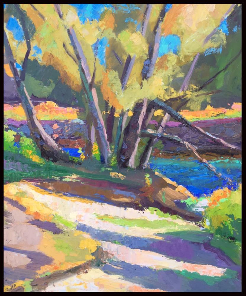 """September Stream"" original fine art by Michael McConnell"