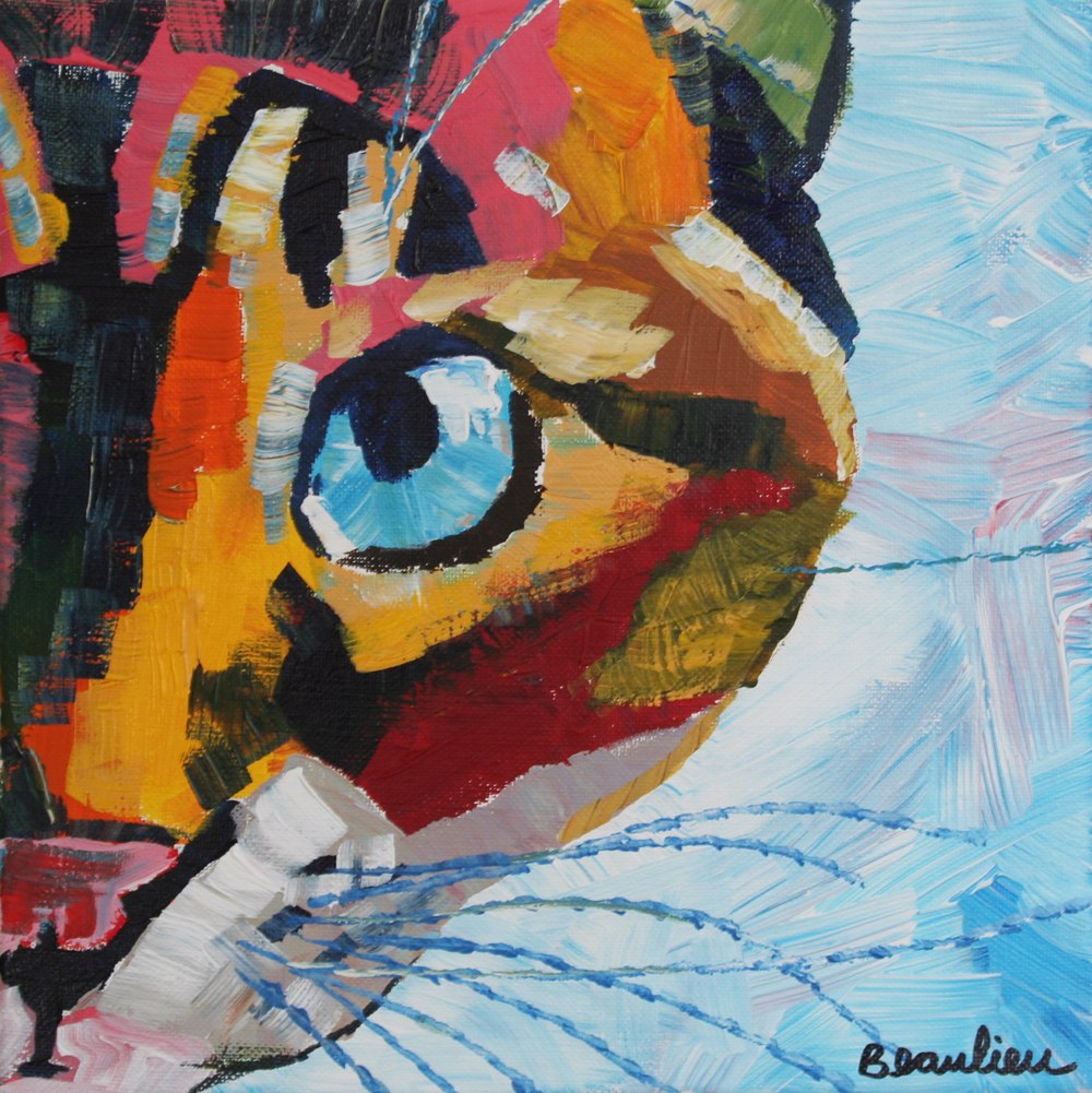 """Princess Cat"" original fine art by Andre Beaulieu"
