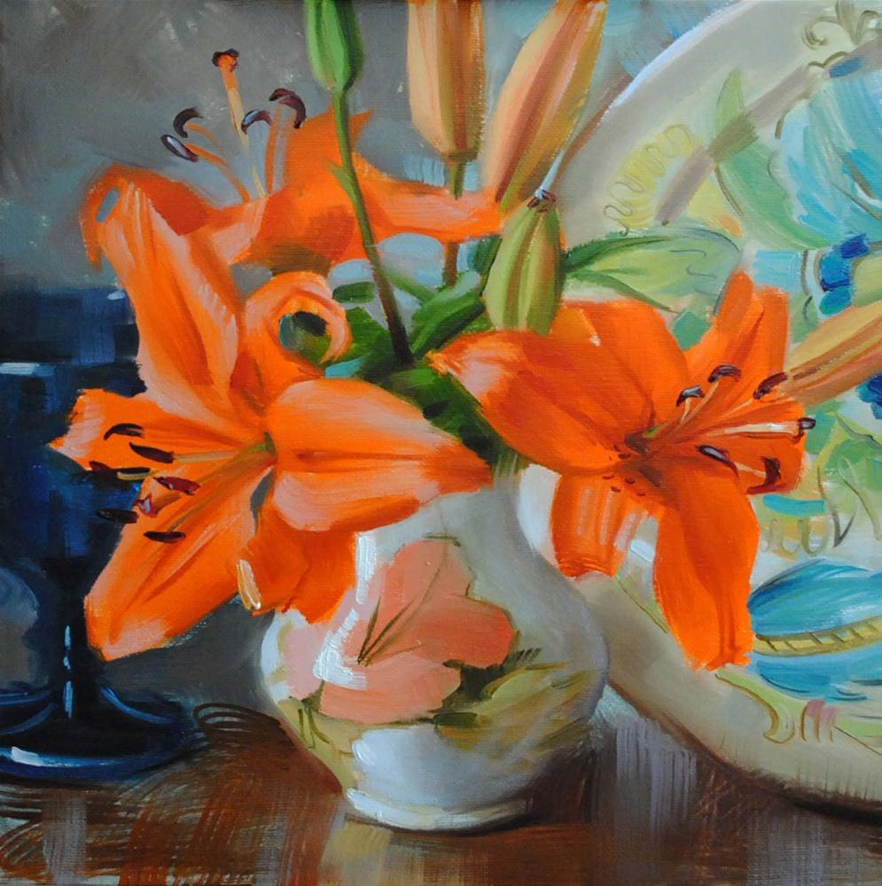 """Autumn Lilies"" original fine art by Elena Katsyura"