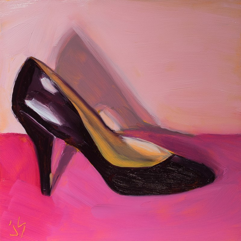 """Shoe Candy"" original fine art by Johnna Schelling"