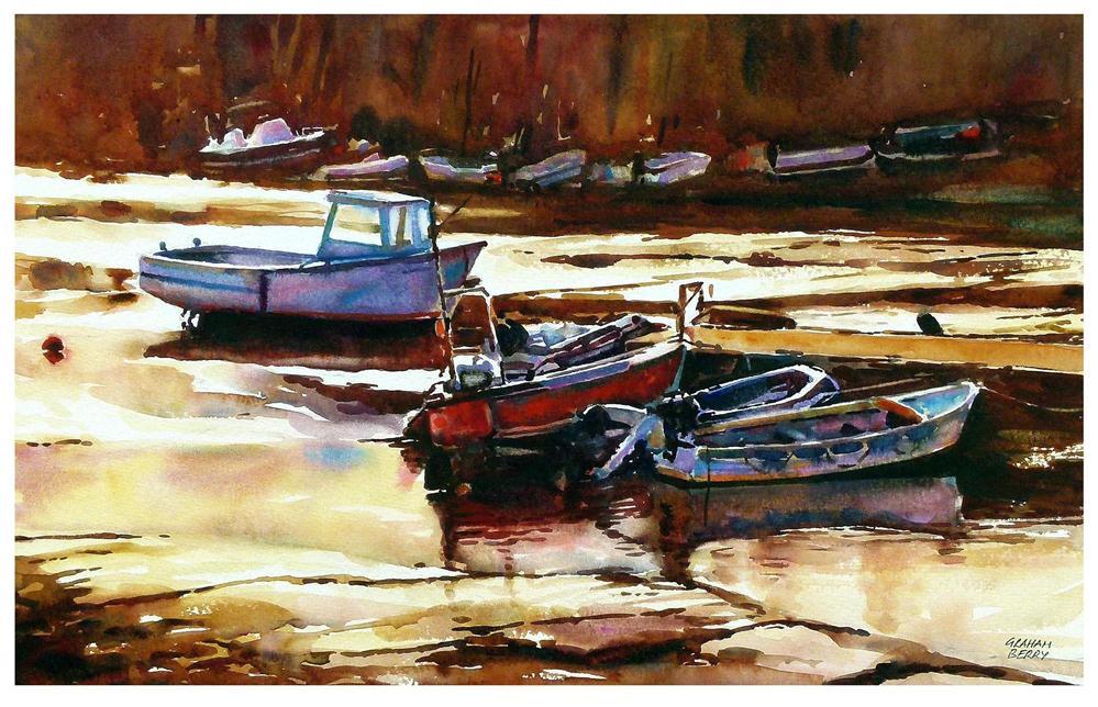 """Salcombe Creek"" original fine art by Graham Berry"