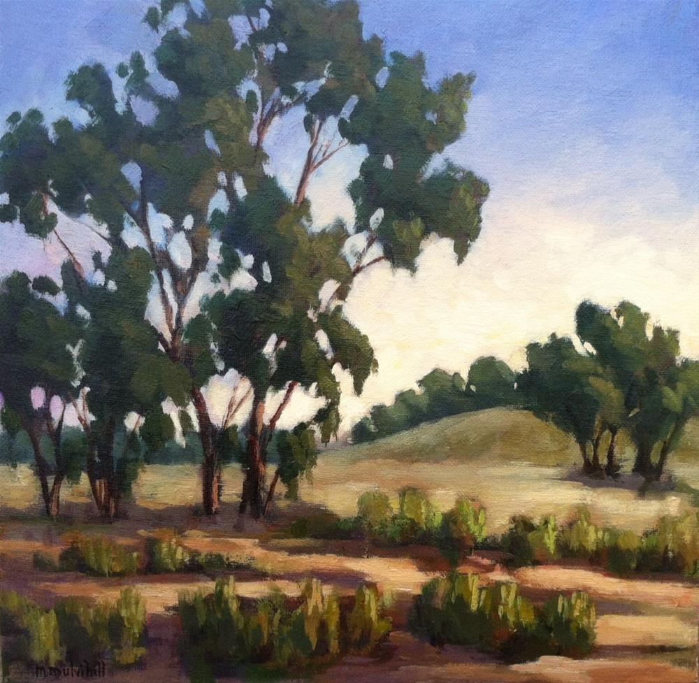 """Eucalyptus Dusk"" original fine art by Mary Mulvihill"