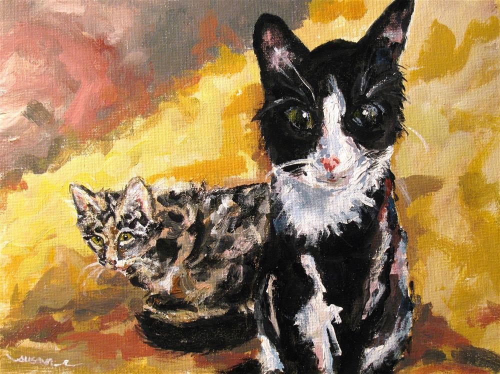 """Mickie and Rockie"" original fine art by Susan Elizabeth Jones"
