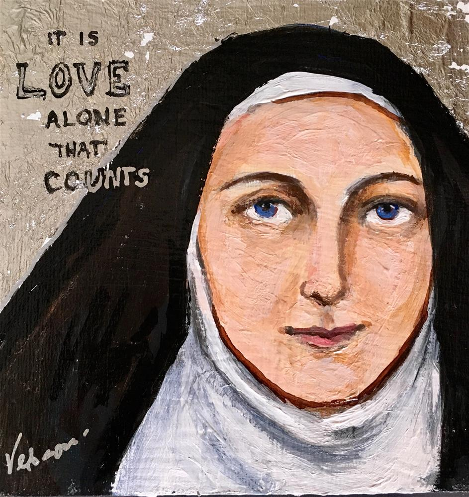 """Saint Therese"" original fine art by Valerie Vescovi"