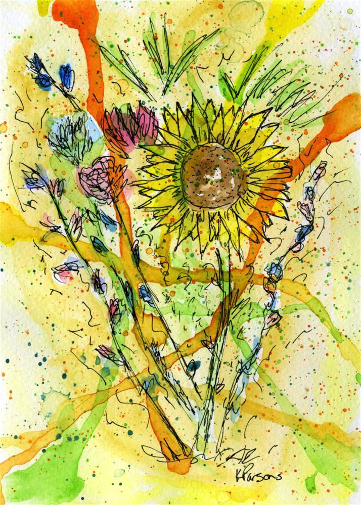 """Sunflower Bouquet"" original fine art by Kali Parsons"