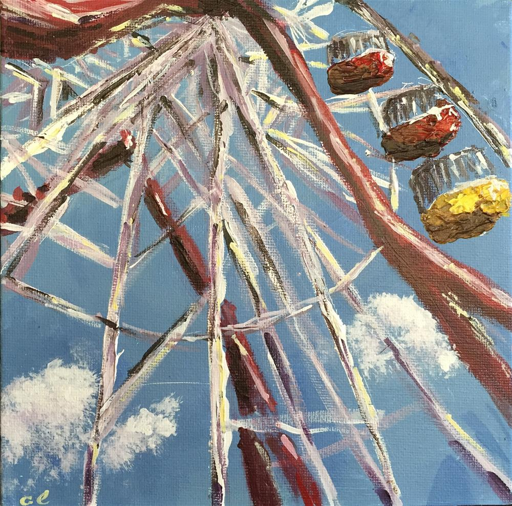 """Up we go"" original fine art by Cheree Apalona Lueck"