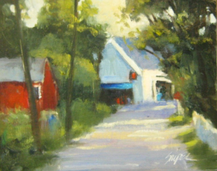 """At the End of the Road"" original fine art by Connie Snipes"