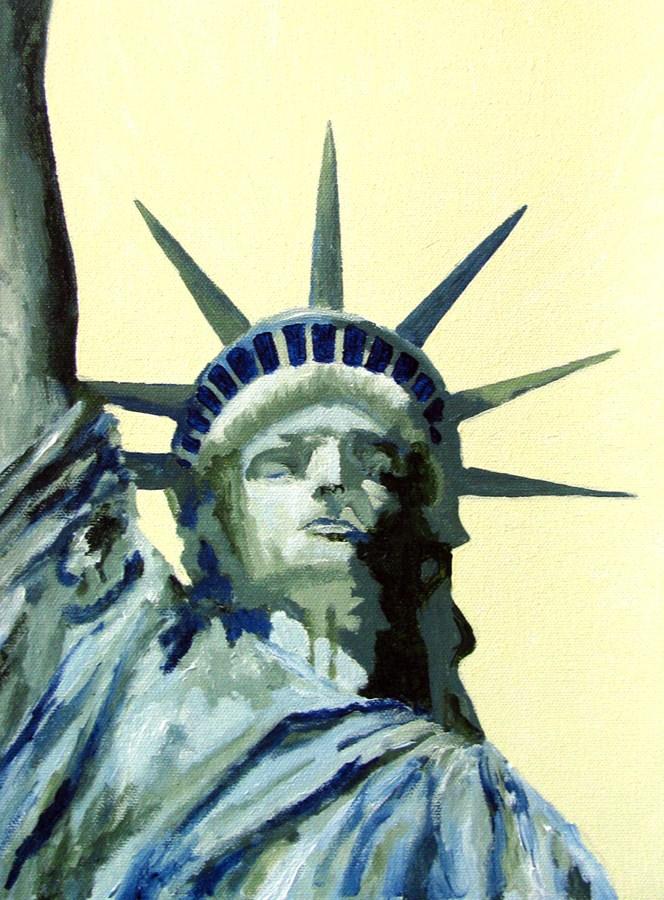 """""""Liberty"""" original fine art by Nan Johnson"""