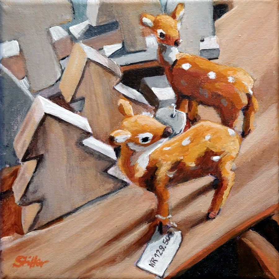 """1573 Decorative Deer"" original fine art by Dietmar Stiller"