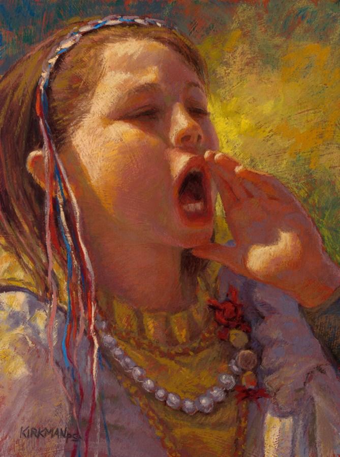 """""""Little Miss Cryer - New Award!"""" original fine art by Rita Kirkman"""