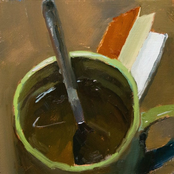 """Jasmine Green Tea"" original fine art by Randall Cogburn"
