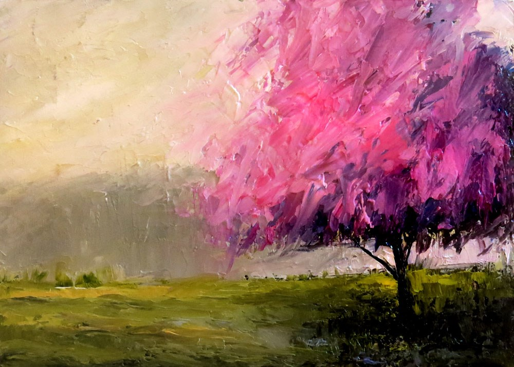 """Lilac Tree"" original fine art by Bob Kimball"