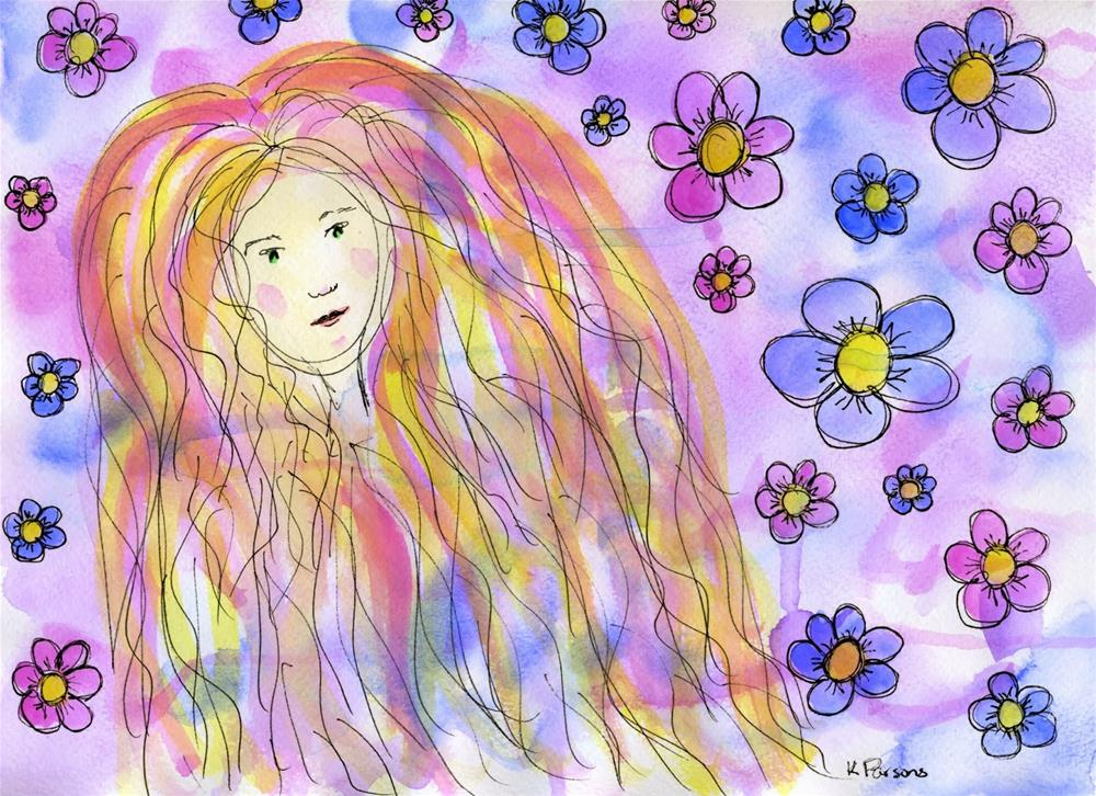 """Flower Child"" original fine art by Kali Parsons"