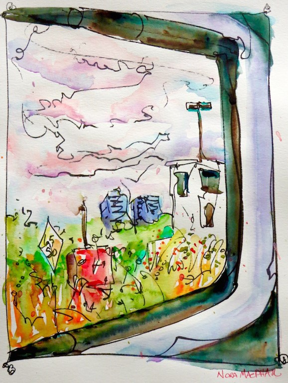 """view from the morning train"" original fine art by Nora MacPhail"