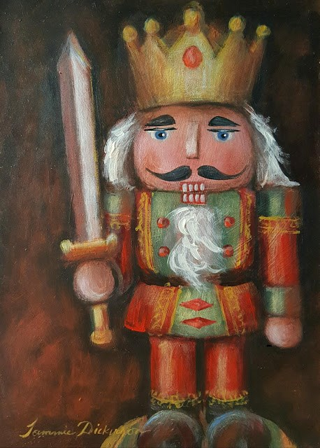 """Royal Nutcracker"" original fine art by Tammie Dickerson"