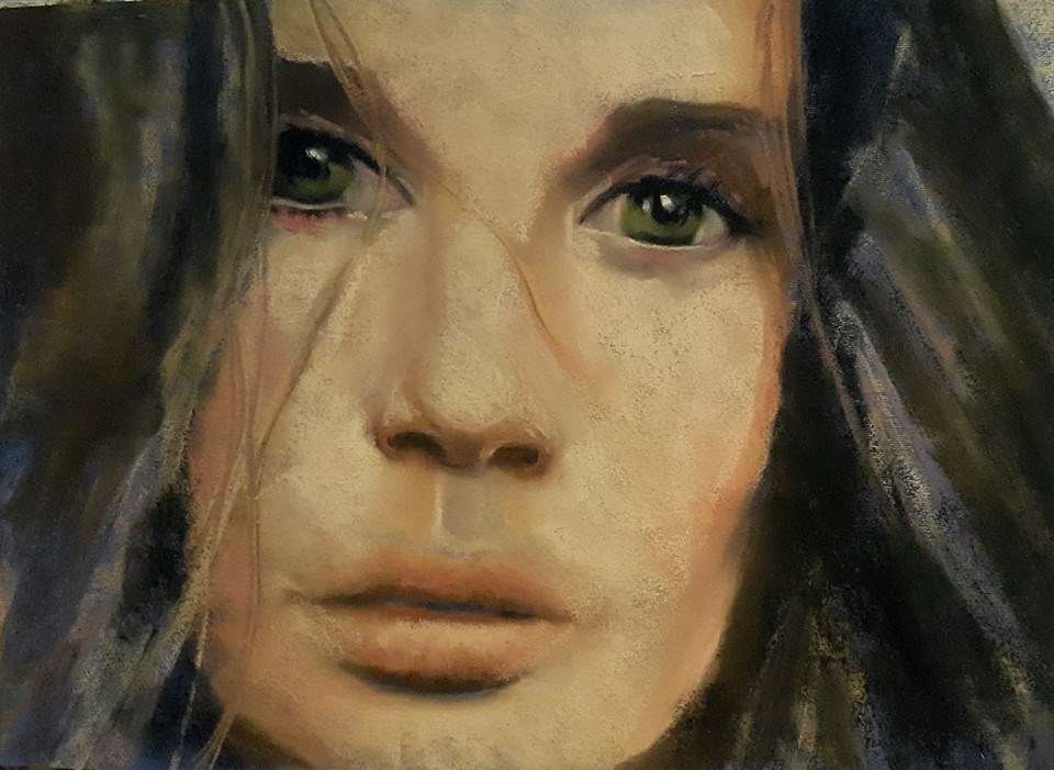 """The Look"" original fine art by Rentia Coetzee"