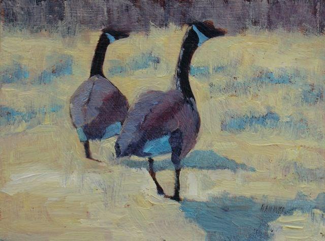 """Canadian Couple"" original fine art by Susan Hammer"
