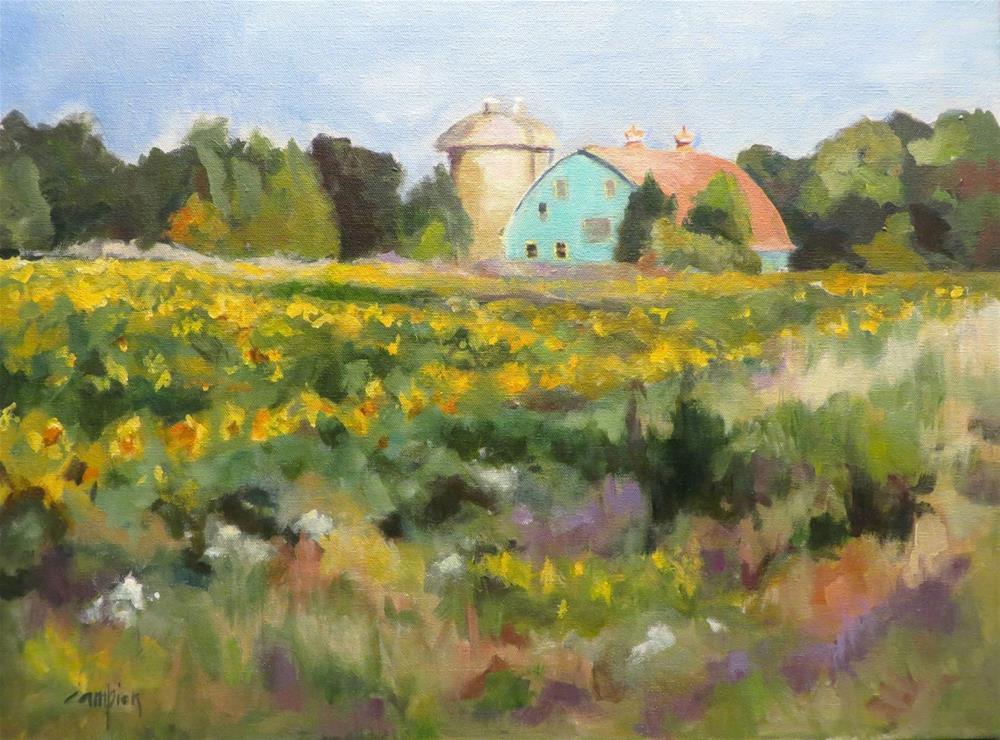"""632 Sunshine Farm"" original fine art by Diane Campion"