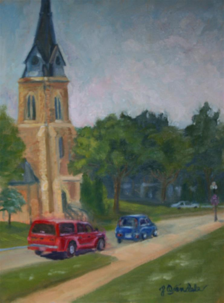 """""""Downtown Red Wing"""" original fine art by Jan Oxendale"""