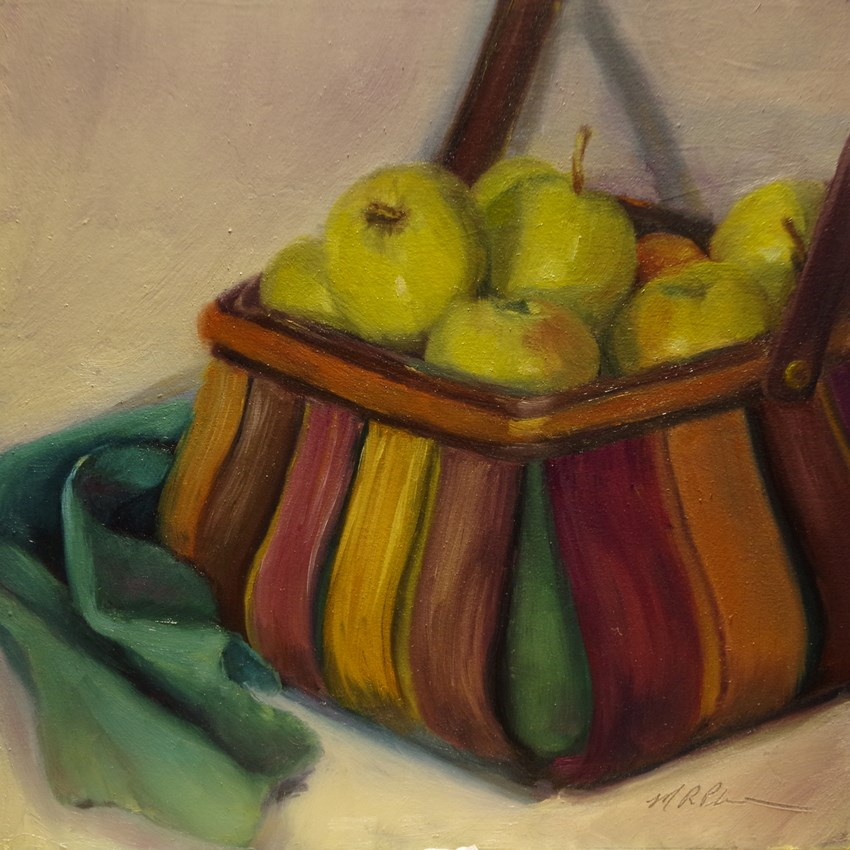 """Basket of Gold"" original fine art by Marilyn R. Place"