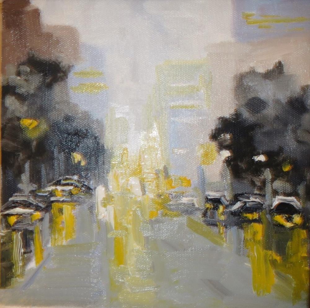 """Rainy lights on a rainy day"" original fine art by Astrid Buchhammer"