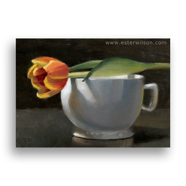 """Tulip and Cup"" original fine art by Ester Wilson"