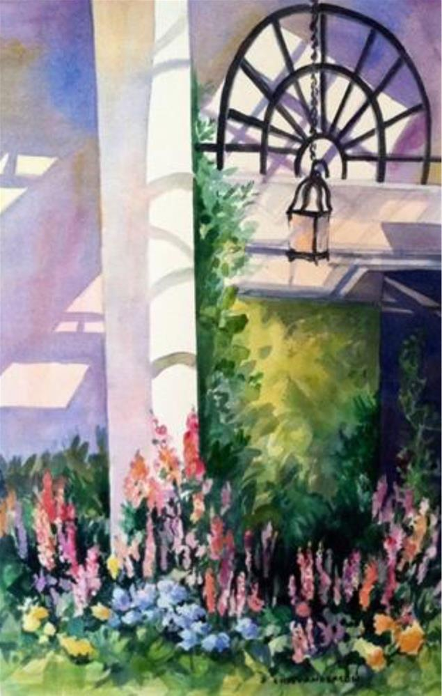 """Longwood Conservatory"" original fine art by Libby Anderson"
