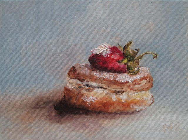 """Daily painting #721 Wicked donuts"" original fine art by Heidi Shedlock"