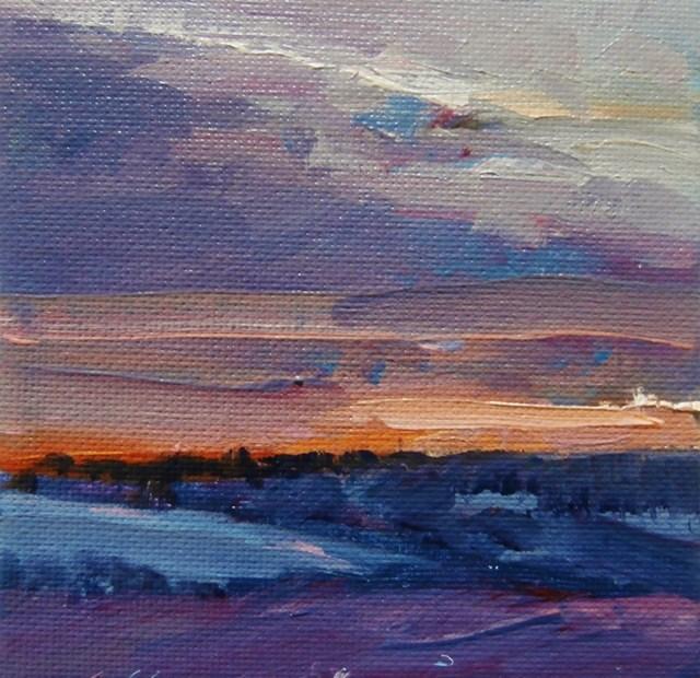 """""""Winter Sky"""" original fine art by Anne Wood"""