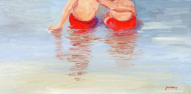 """Day 13 of 30 Days  Beach Butts"" original fine art by Sue Furrow"