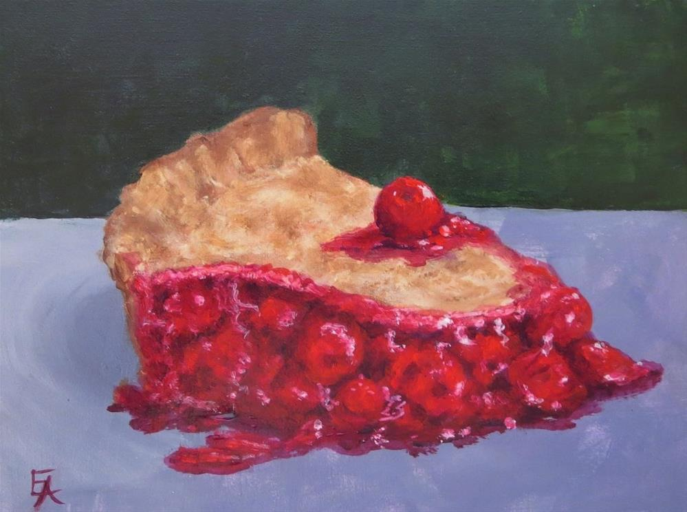 """Cherry on Top"" original fine art by Elizabeth Elgin"