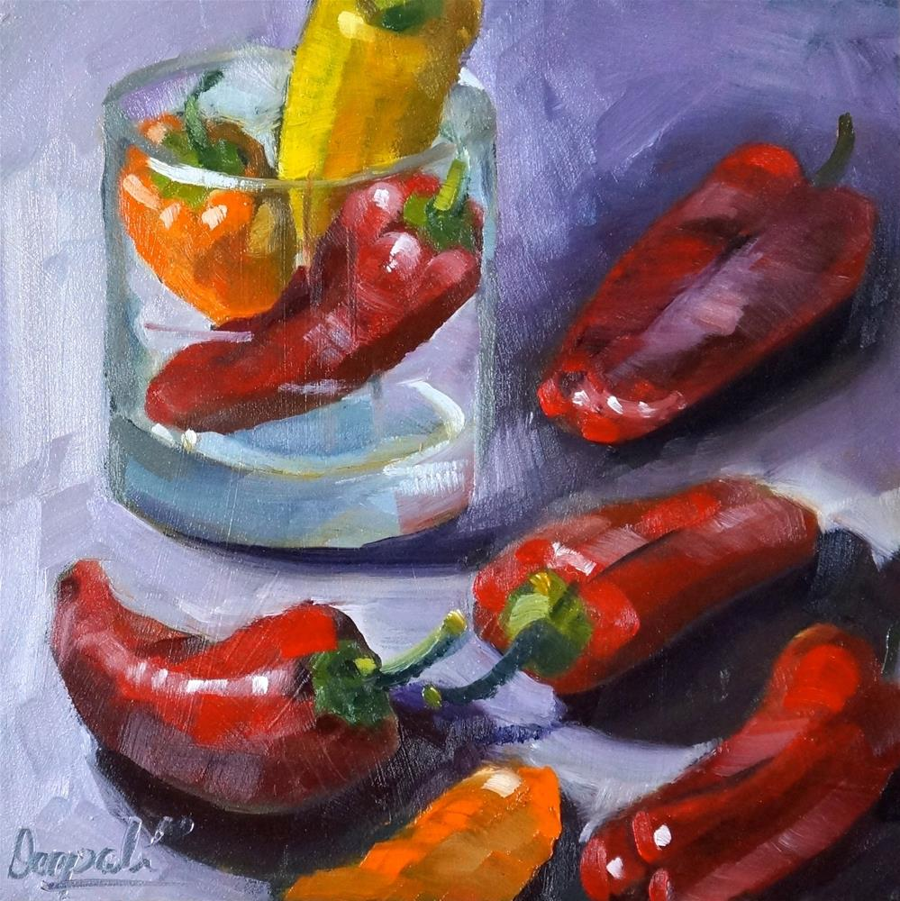 """Peppers"" original fine art by Dipali Rabadiya"