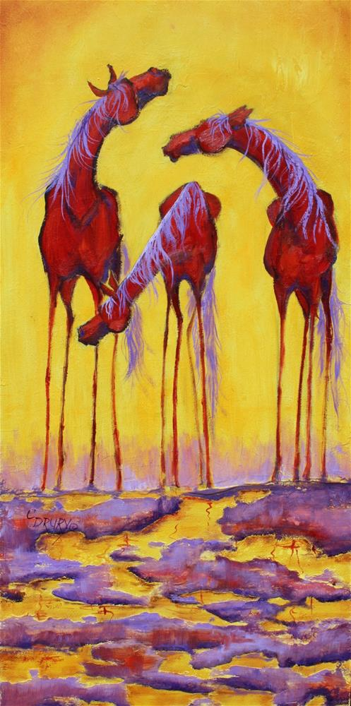 """Three Amigos"" original fine art by Colleen Drury"