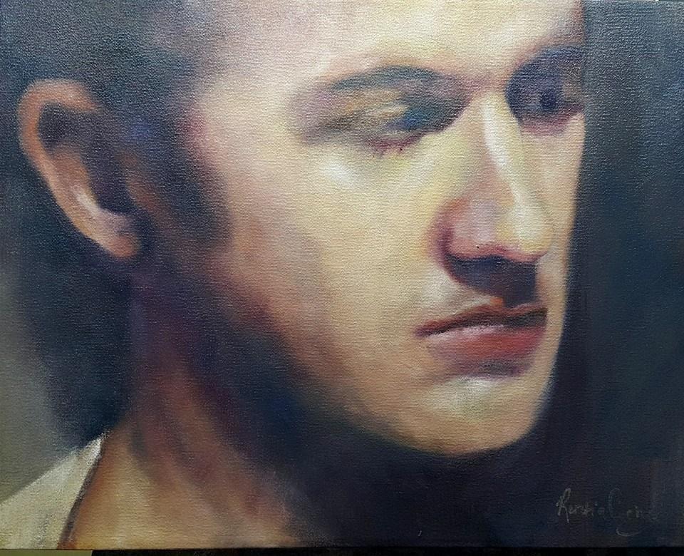 """My son Wahldo"" original fine art by Rentia Coetzee"