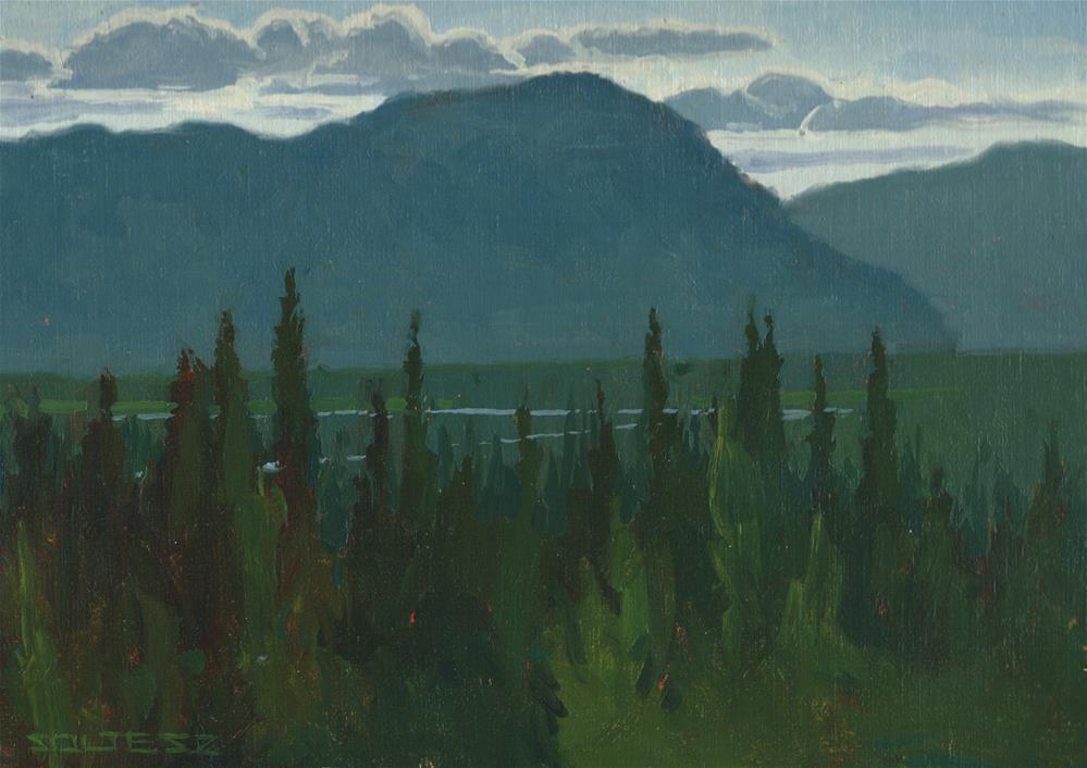 """Alaskan blues"" original fine art by J. Thomas soltesz"