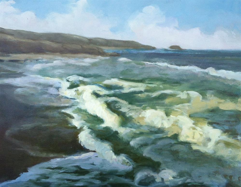 """Pacifica"" original fine art by Mary Mulvihill"