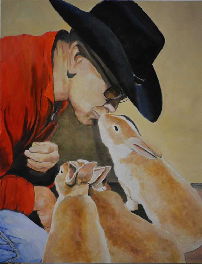 """Bunny Affection"" original fine art by Charlotte Yealey"