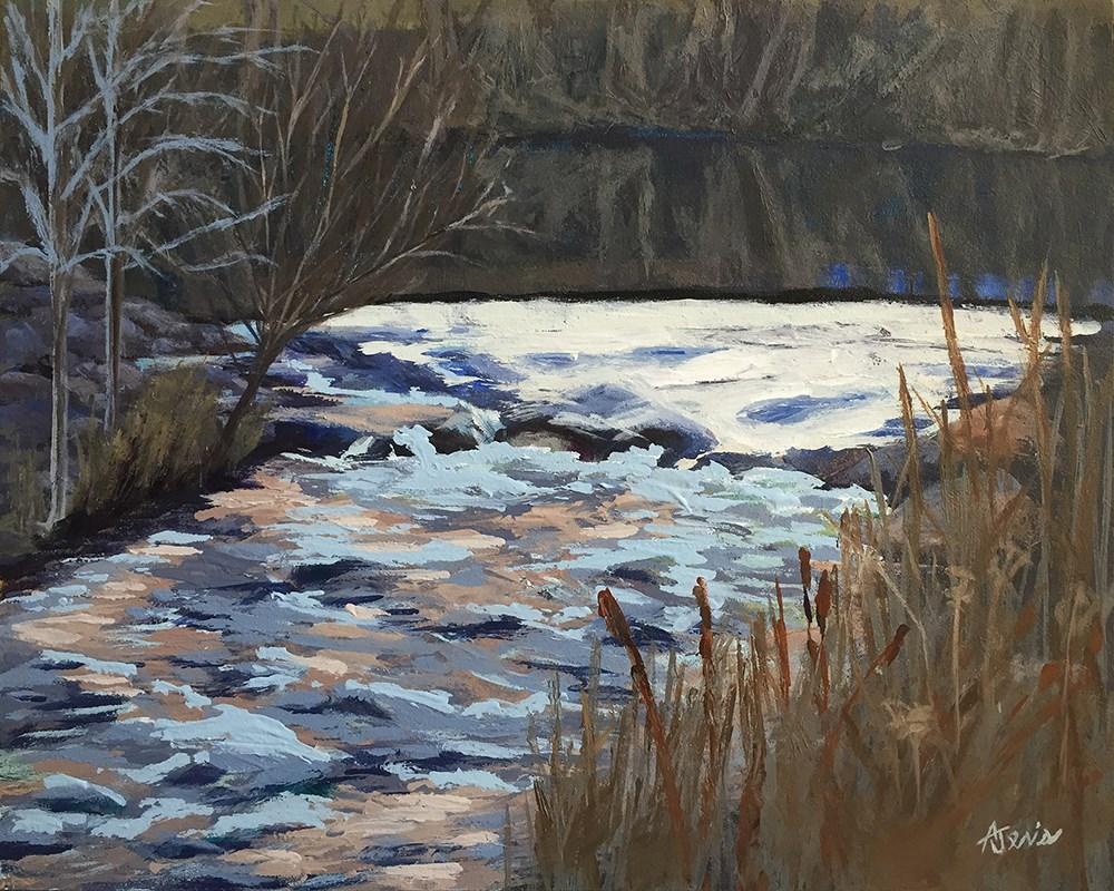 """""""River Rapids"""" original fine art by Andrea Jeris"""