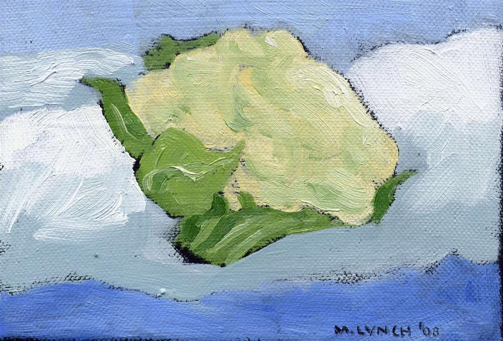 """""""Cauliflower on a Cloud"""" original fine art by Marie Lynch"""
