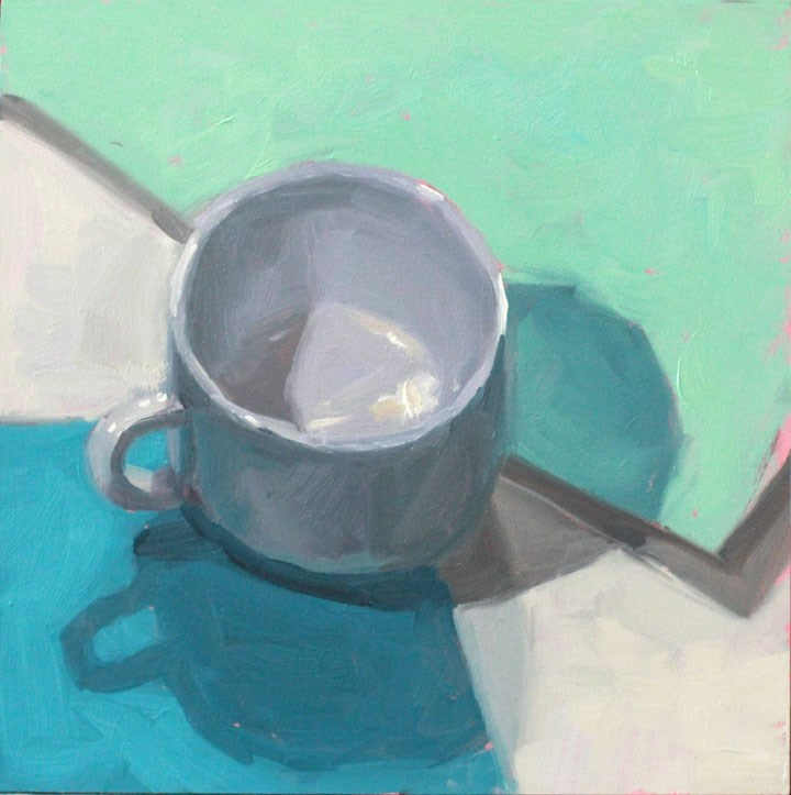 """Another White Cup"" original fine art by Nealy May Riley"