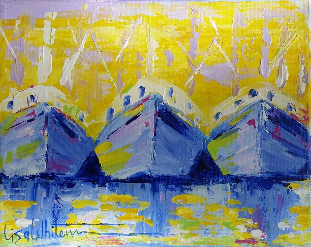 """125 - Signature shrimpers"" original fine art by Lisa Rogers"