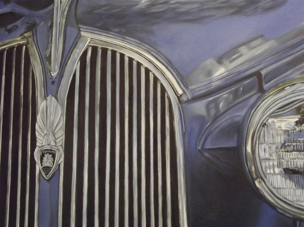 """Blue Plymouth"" original fine art by Amy VanGaasbeck"