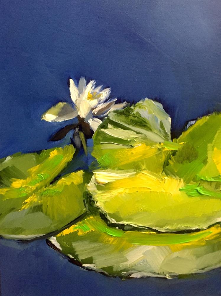 """Expressive Lily Pads"" original fine art by Gary Bruton"