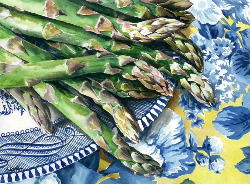 """""""Asparagus"""" original fine art by Nadi Spencer"""
