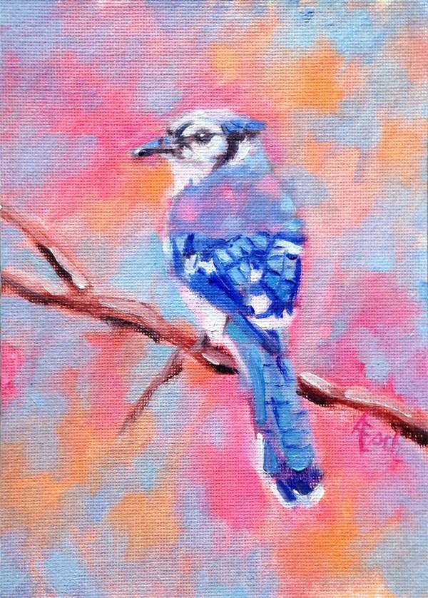 """""""Bluejay"""" original fine art by Audra Esch"""