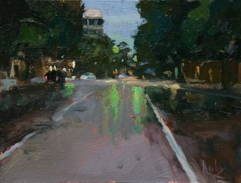 """Evening Downtown"" original fine art by Randall Cogburn"