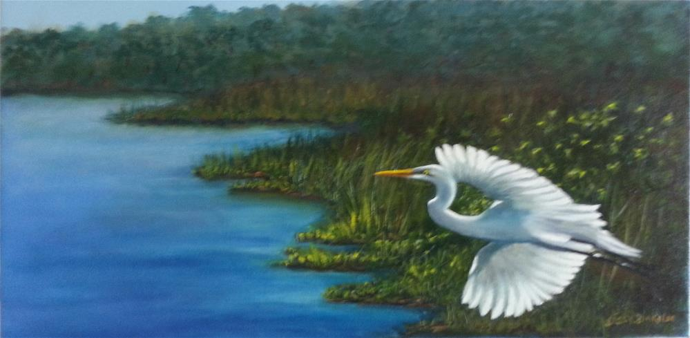 """""""Coming In For A Landing"""" original fine art by Sissy Blakslee"""